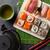 set of sushi maki and green tea stock photo © karandaev