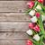 tulipani · carta · viola · vecchio · legno · legno - foto d'archivio © karandaev