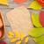 autumn leaves rowan berries and apples over wood background stock photo © karandaev