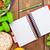fita · métrica · alimentação · saudável · bloco · de · notas · cópia · espaço · fitness · saúde - foto stock © karandaev