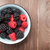 blackberries and raspberries bowl stock photo © karandaev