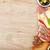kaas · prosciutto · brood · groenten · specerijen · houten · tafel - stockfoto © karandaev