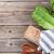 fresh romano caesar salad cooking stock photo © karandaev