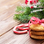 christmas gingerbread cookies candy cane and tree stock photo © karandaev