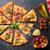 pizza · tomates · mozzarella · albahaca · casero · superior - foto stock © karandaev