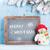 christmas chalkboard snowman and fir tree stock photo © karandaev