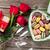 día · de · san · valentín · tarjeta · de · felicitación · vino · tinto · corazón · juguete · mesa · de · madera - foto stock © karandaev