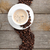 tazza · di · caffè · tela · ruvida · fagioli · rustico - foto d'archivio © karandaev