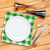 üres · tányér · ezüst · étkészlet · fa · asztal · felső · kilátás - stock fotó © karandaev