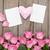 hecho · a · mano · madres · día · tarjeta · rosa · rosas - foto stock © karandaev