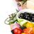 domates · zeytin · parmesan · peyniri · otlar · baharatlar · yalıtılmış - stok fotoğraf © karandaev