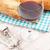 vinho · tinto · pão · branco · mesa · de · madeira · comida · fundo - foto stock © karandaev