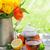 friss · menta · fehér · váza · desszertek · fából · készült - stock fotó © karandaev