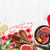 bor · alakú · karácsonyfa · fa · asztal · felső · kilátás - stock fotó © karandaev
