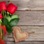 red roses and valentines day heart stock photo © karandaev