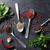 temperos · alho · fresco · salsa · folhas · cerâmico - foto stock © karandaev