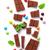 törött · csokoládé · szelet · cukorkák · színes · cukorka · édesség - stock fotó © karandaev