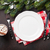 karácsony · vacsora · tányér · ezüst · étkészlet · fenyőfa · ajándék - stock fotó © karandaev