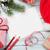 christmas greeting card and gift boxes stock photo © karandaev
