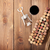wine bottle shaped corks glass of red wine and corkscrew stock photo © karandaev
