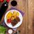 bife · grelhado · batata · milho · salada · vinho · tinto - foto stock © karandaev