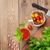 vágódeszka · friss · zöldségek · fa · asztal · felső · kilátás · copy · space - stock fotó © karandaev