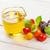 olive oil tomatoes basil on wooden table stock photo © karandaev