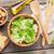 caesar · salade · geïsoleerd · witte · salade · kom - stockfoto © karandaev