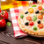 İtalyan · pizza · peynir · domates · zeytin · fesleğen - stok fotoğraf © karandaev