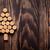 natal · árvore · de · natal · mesa · de · madeira · cópia · espaço · madeira - foto stock © karandaev