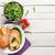 grilled salmon and salad stock photo © karandaev