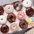 カラフル · ドーナツ · ボックス · 石 · 表 · 食品 - ストックフォト © karandaev