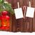 christmas candle lantern and blank photos stock photo © karandaev