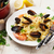 spagetti · főtt · fokhagyma · hagyma · petrezselyem · étel - stock fotó © karandaev