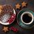 gemengd · vruchten · esdoorn · siroop · ontbijt · witte - stockfoto © karandaev