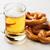 bière · bretzel · table · en · bois · verre · fond - photo stock © karandaev
