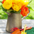 colorful tulips and garden tools stock photo © karandaev