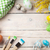colorful easter eggs and paint brushes stock photo © karandaev