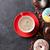 kahve · fincanı · renkli · kahve · fincanları · ahşap · masa · üst - stok fotoğraf © karandaev