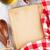 vintage recipe book utensils and ingredients stock photo © karandaev