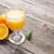 vers · sappig · sinaasappelen · geïsoleerd · witte · blad - stockfoto © karandaev