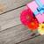красочный · цветы · шкатулке · деревянный · стол · копия · пространства · природы - Сток-фото © karandaev