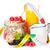 healty breakfast with muesli berries and orange juice stock photo © karandaev