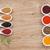 香料 · 木桌 · 組 · 紅色 · 胡椒 - 商業照片 © karandaev