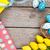 páscoa · azul · branco · ovos · ninho · amarelo - foto stock © karandaev