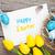 Пасху · синий · белый · яйца · желтый - Сток-фото © karandaev