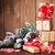 christmas gift boxes and santa hat stock photo © karandaev
