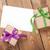 photo frame card and gift boxes with ribbon stock photo © karandaev