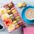 colorful macaroons coffee sweet macarons stock photo © karandaev