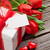 valentines day gift box and red tulips stock photo © karandaev